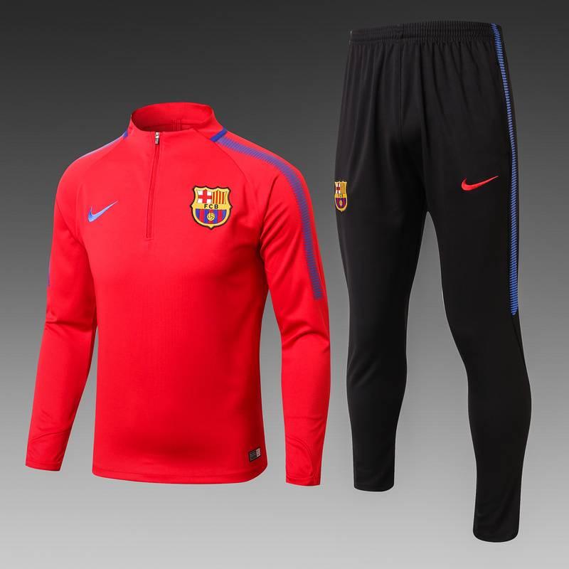 Детские спортивные костюмы барселоны barcelona 2017 2018 красный