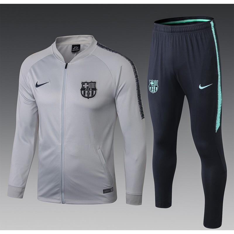 Спортивный костюм барселоны серый 2018 2019  месси