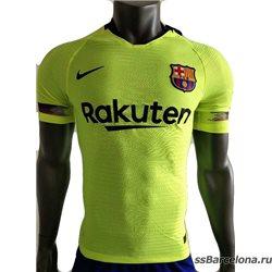 Новотехнологичная футболка barcelona салатовый 2018