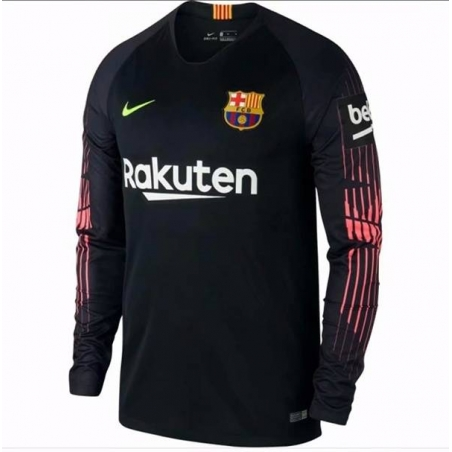 Футболка barcelona 2018 черная розоая  месси
