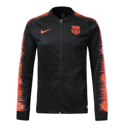 Олимпийка барселоны черная оранжевая  месси
