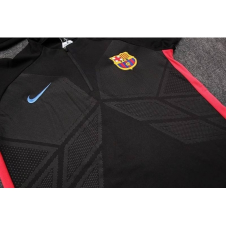 Тренеровочный свитер барселоны barcelona черный красный  месси