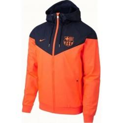 Куртка ветровки барселоны оранжевая  месси