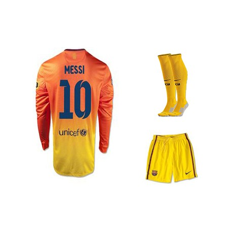 Футбольная форма nike мессии желтая