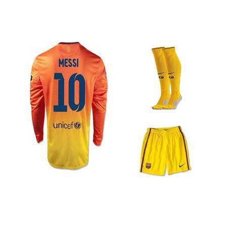 Футбольная форма nike мессии желтая  месси