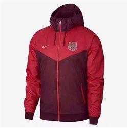 Куртка ветровки барселоный красная  месси