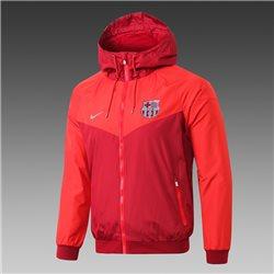 Куртка ветровка барселоны красная  месси