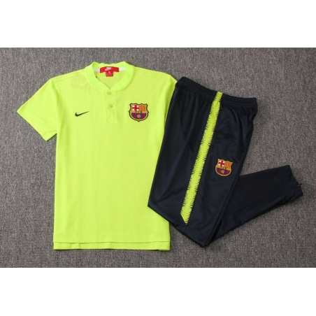 Футбольный костюм поло барселона салатовый  месси