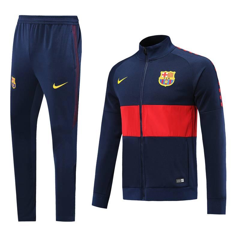 (Темно серый/Красный) Спортивные футбольный костюм барселоны 2019 2020