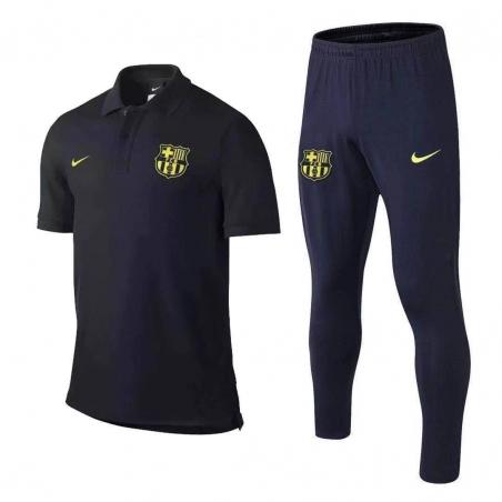 Футбольный костюм поло барселона 202 2020 темно синий  месси