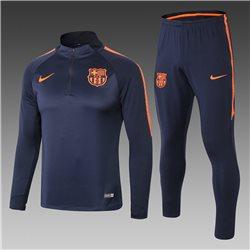 Тренировочный костюм барселоны 2019 2020 темно синий оранжевый