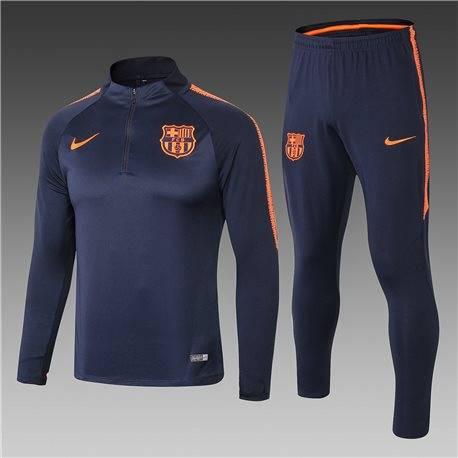 Барселона детский тренеровочный костюм темно темно синий 2018 2019