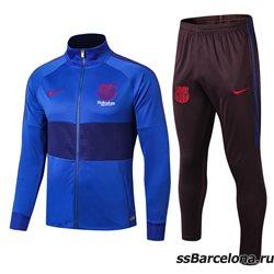 (Синий/Темно серый) Спортивные футбольный костюм барселоны 2019 2020