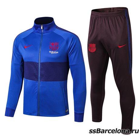 Спортивные футбольный костюм барселоны 2019 2020 синий