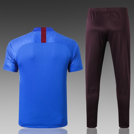 Футбольная форма костюм барселоны 2020 2019 темно синий  месси