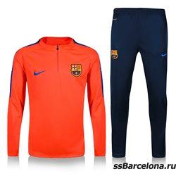 Тренировочные костюмы (Оранжевые/Темно синий) барселоны 2020 2019