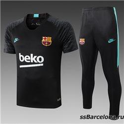 Футбольная форма костюм(Черный/Минтол) барселоны 2020 2019