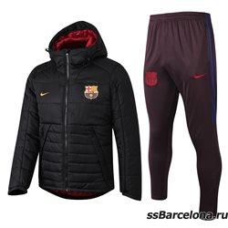 Теплые костюмы футбольные (Черный/Желтый) Барселона