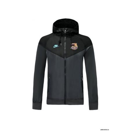 Куртка ветровки (Черная/Берюзовая) барселоны 2019 2020