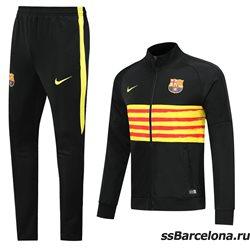 (Черная/Желтая) спортивные футбольные костюм барселона 2019 2020