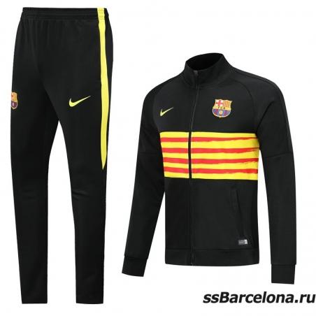 Спортивные футбольные костюм (Темно синяя/Минтоловая) барселона 2019 2020