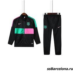Спортивные костюмы барселоны для детей 2020-2019 (Черный/Градиент)