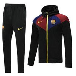 Спортивный костюм капюшон (Черный/Берюзовый) барселоны 2020 2019