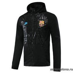 Куртка барселоны ветровки (Черная/Белстящее/Берюзовая) 2021 2020