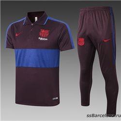 Футбольный поло костюм barcelona 2021 2020