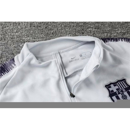 Барселона детский тренеровочный костюм белый 2018 2019  месси