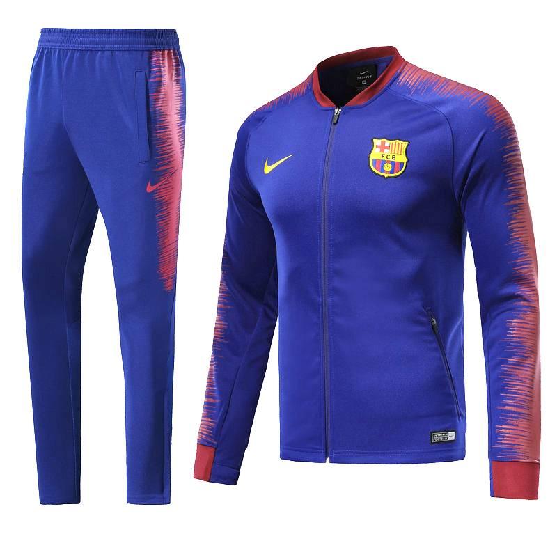 Спортивные костюм барселоны 2020 2018 синий красный