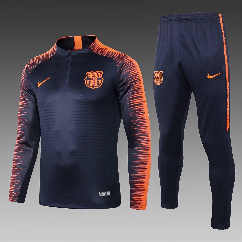 Тренировочные костюмы (Темно синий/Оранжевый) барселоны 2020 2019 Border