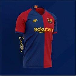 Футболка barcelona 2018 синяя красная