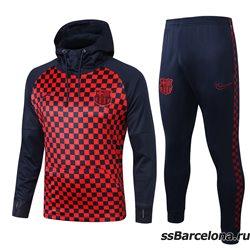 Теплые костюмы худи (Темно синий/Гранатовый) Барселона Верси 2