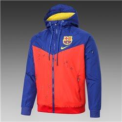 (Оранжевый/Синий) Куртка ветровки барселоны 2021 2020