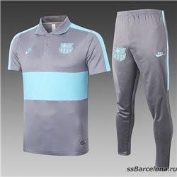 Футбольный костюм barcelona 2021 2020 серый